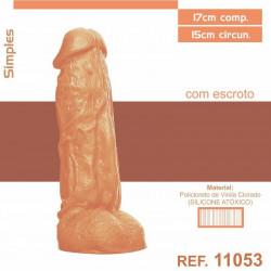Pênis Realístico (dildo) 17cm - sem vibro e com escroto