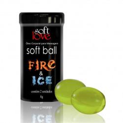 Bolinha Funcional Fire & Ice - Excitante Esquenta e Gela