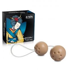 Ben-Wa - Conjunto com 02 bolas para exercícios vaginais - Marfim