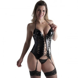 Espartilho Sexy em Vinil - Bruna