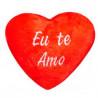 Estojo de Coração de Pelúcia Vermelho