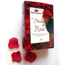 Pétalas de rosas perfumadas para decoração