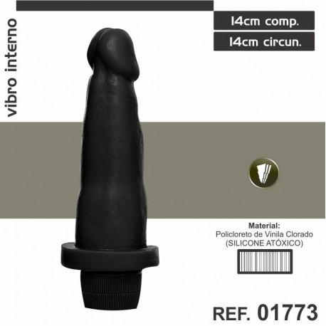 Pênis Realístico com vibro - Dildo de 14cm
