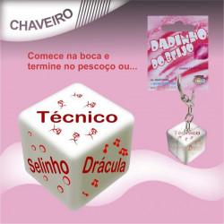 Dado Erótico do Beijo - Chaveiro
