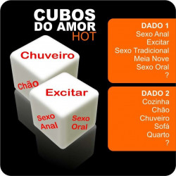 Dados Eróticos Cubos do Amor Hot - ação e lugar