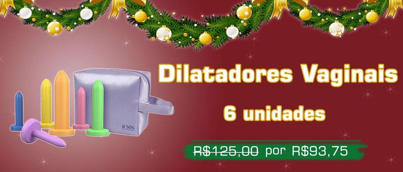 Kit Dilatadores Vaginais Gradativos Coloridos - 06 Unidades