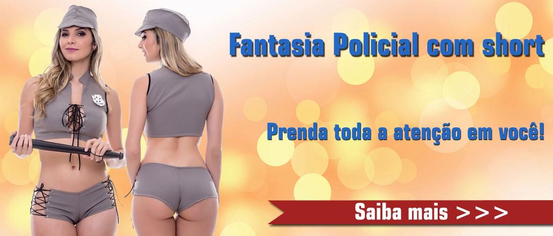 Fantasia Policial com Short - Amareto