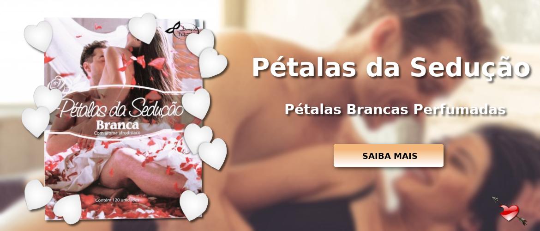 Pétalas Brancas Perfumadas 120 unidades - Brasil Fetiche